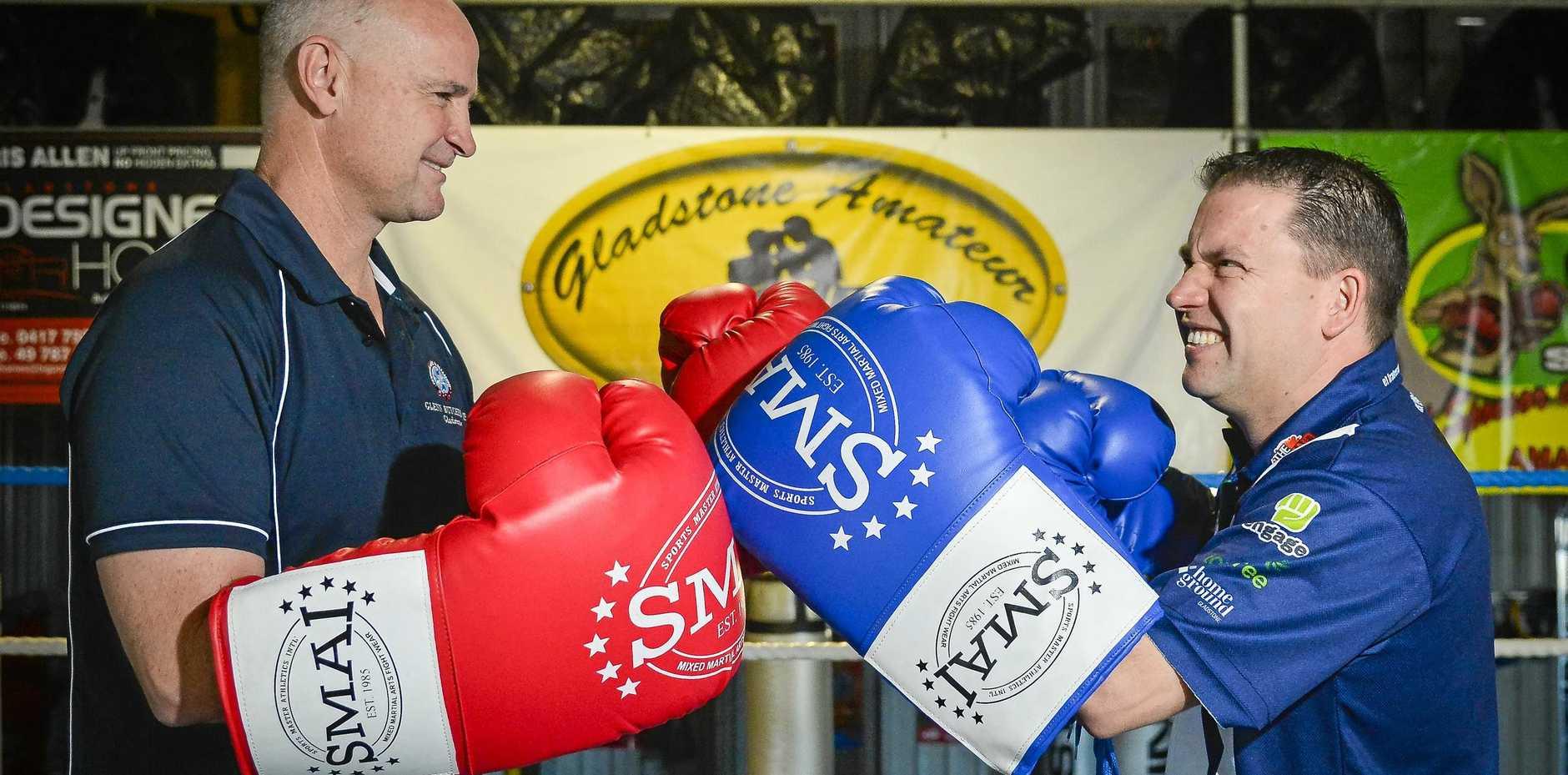 Glenn Butcher and  Matt Burnett will face off in a charity boxing match on Saturday.