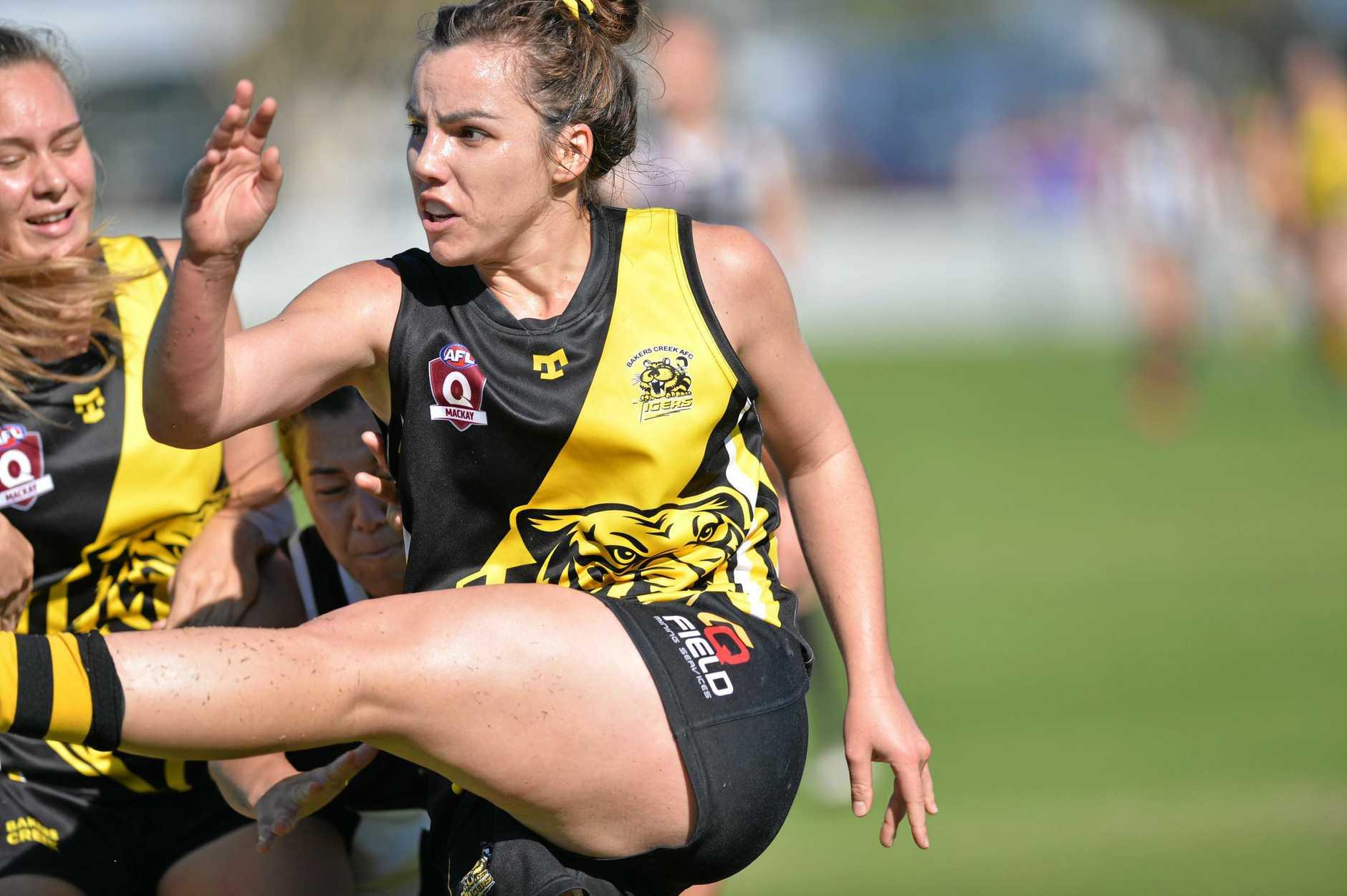 OFF THE BOOT: Lauren Rosmalen-Brinkley Bakers Creek pelts the ball down field.