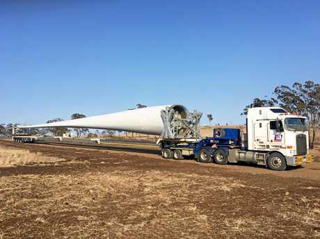 The largest wind turbines ever transported in Australia are set to make their way up the Toowoomba Range.