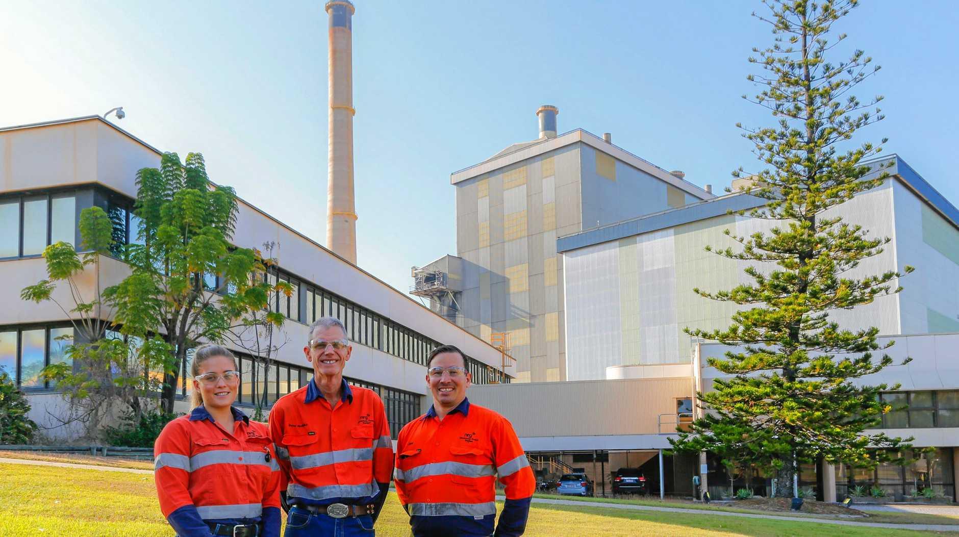POWERING AHEAD: Gladstone Power Station's safety team Kaitlin Darrach, David Greinke, Jayd McKenzie.