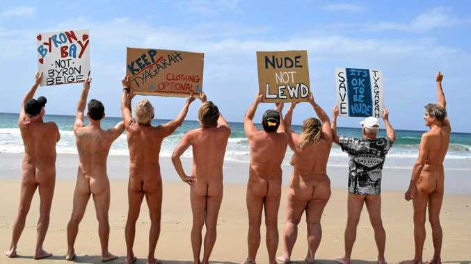 Nudists rally for their clothing-optional beach