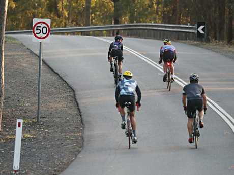 Mount Coot-tha in Brisbane is a speeding hot spot for cyclists. Picture: Annette Dew
