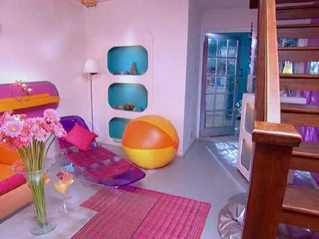 Shaynna Blaze's living room. Source: BBC.