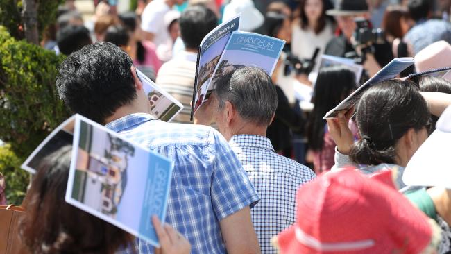 The auction was said to be one of the biggest the agents had seen in the area. Picture: Tara Croser.