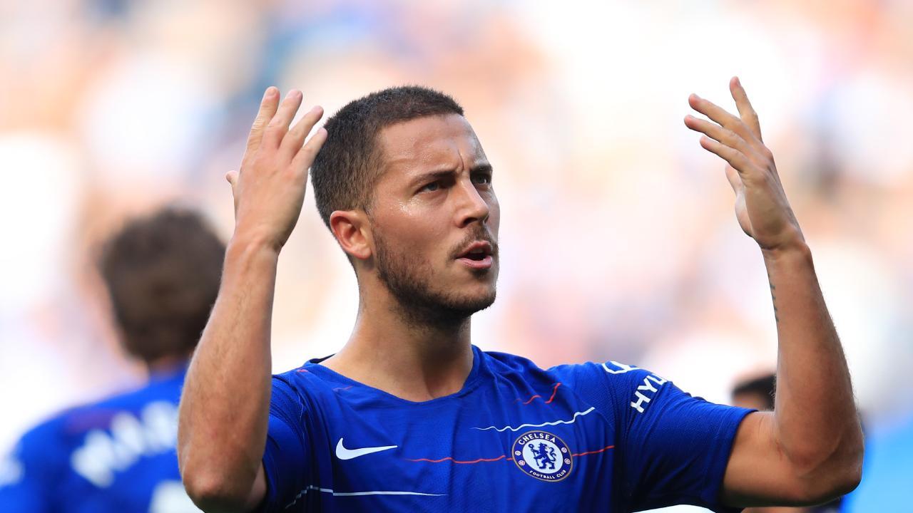 Eden Hazard of Chelsea celebrates
