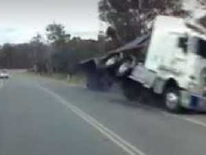 WATCH: Aussie truck's horror crash