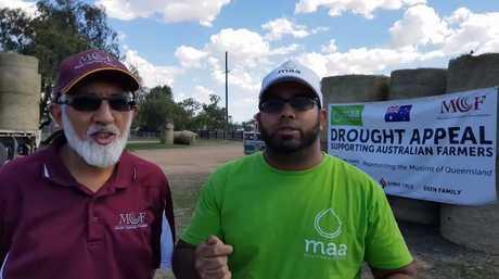 Muslims donate hay to western Queensland.
