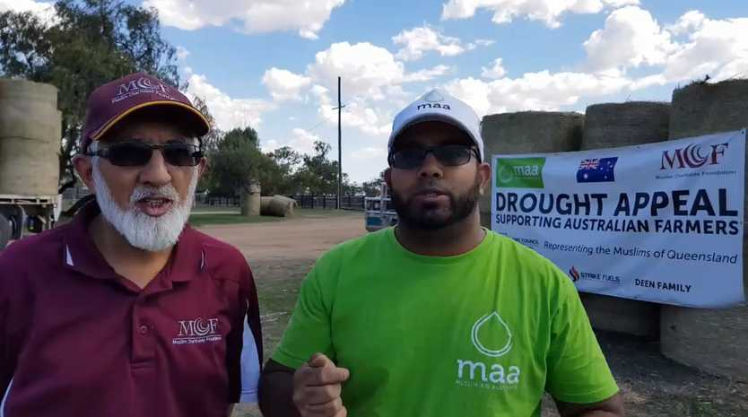Muslims donate hay to western Queensland.