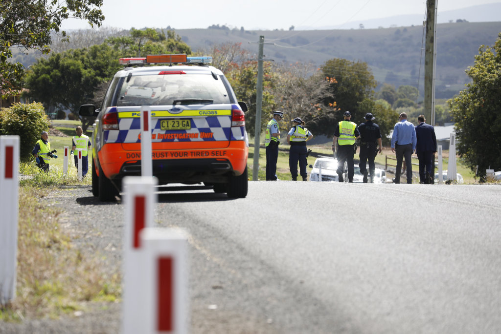 Investigators gathered at the scene of an incident where a young girl was struck by a car on Cameron Rd, Boat Harbour on Monday morning.