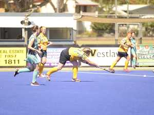 Action from the Grafton Hockey Association womens