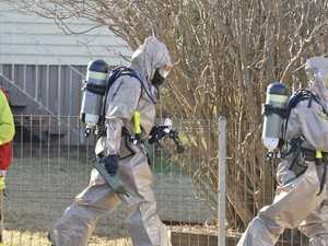 Emergency services called to home over 'unknown substance'