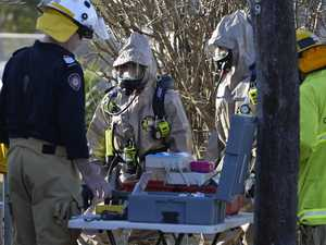 Firies investigate substance