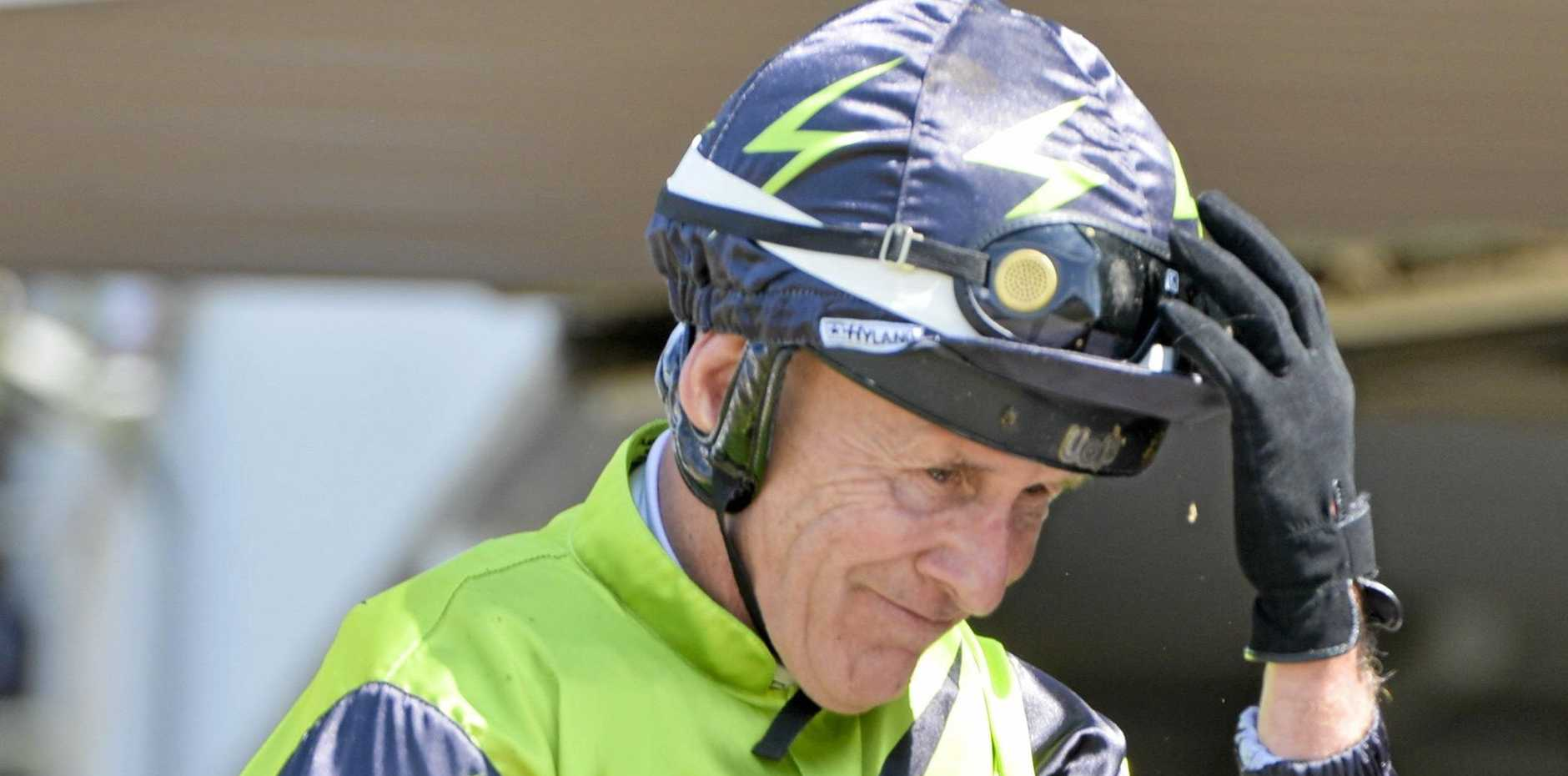GOING STRONG: Jockey Jeff Lloyd may have to delay his retirement plans after another Ipswich win on Tang Dynasty before being awarded the state's top riding honour.