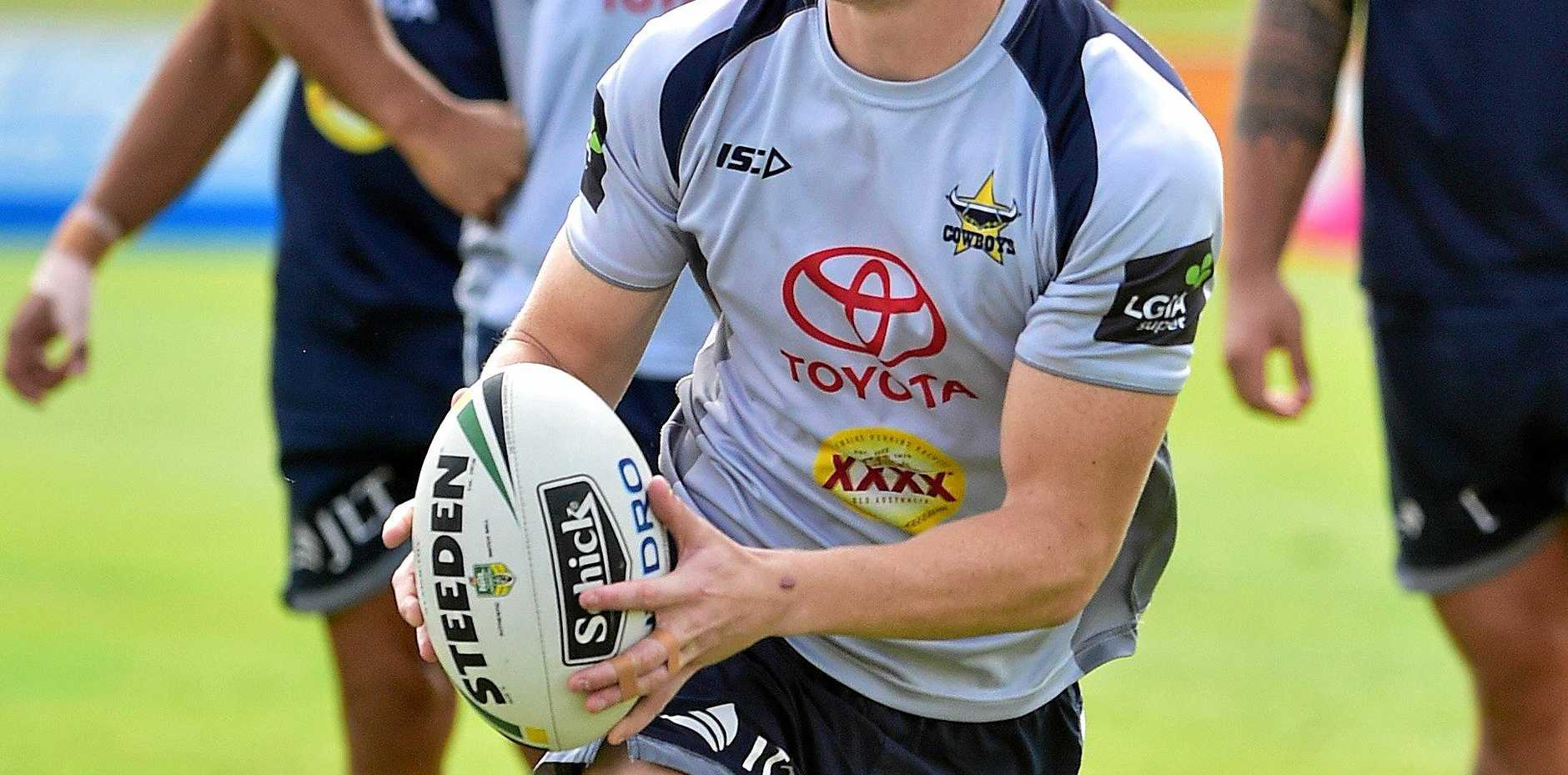 DETERMINED: Former North Queensland Cowboy Kyle Laybutt at training last year.