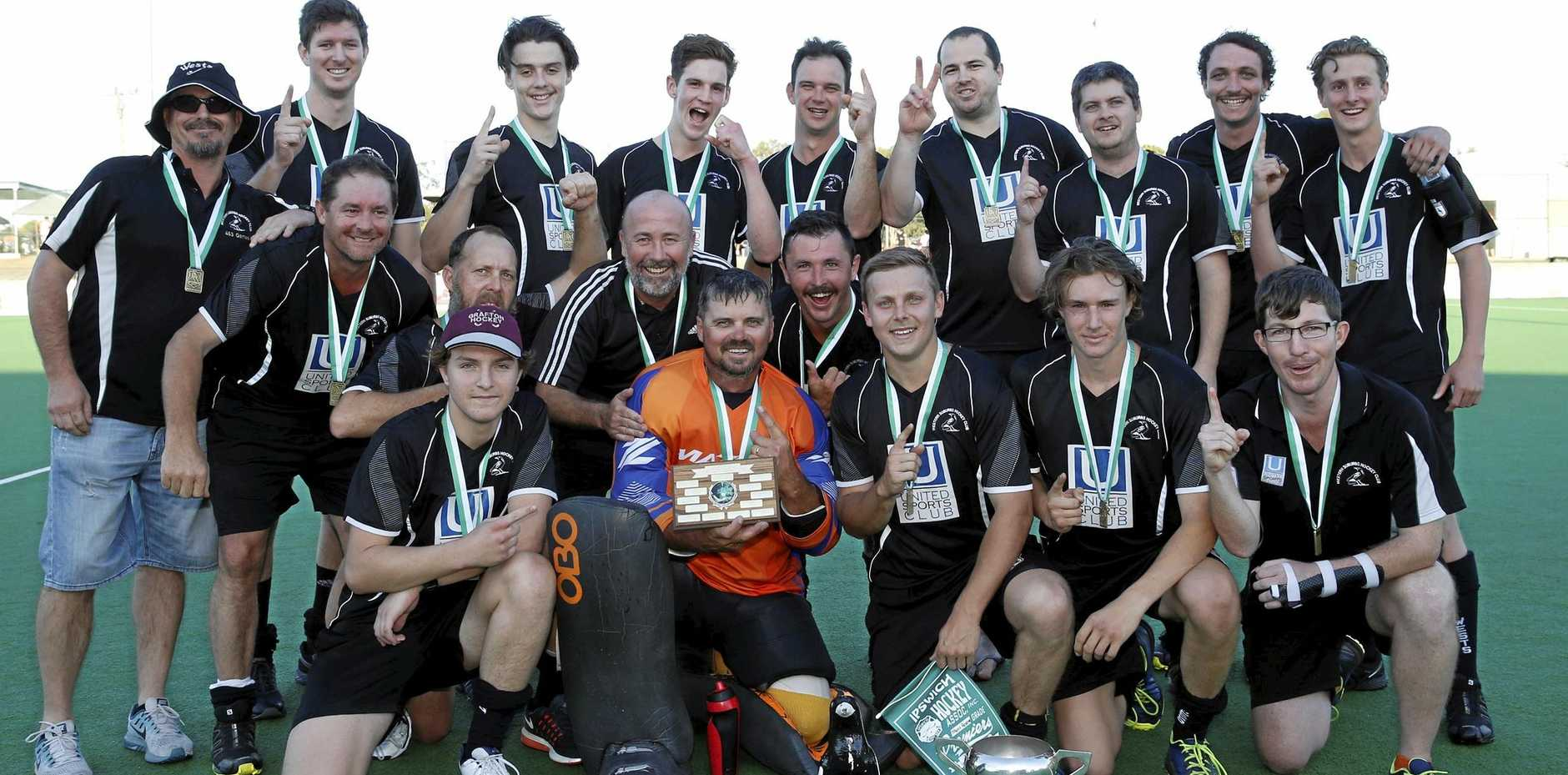 FLYING HIGH: The Wests Magpies Reserve Grade team that shared in one of four grand final victories by club teams.