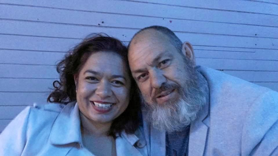 NEW LIFE: Abigail Andersson and husband Dan in happier times after her experiences as a Jehovah's Witness which she claims is a cult.