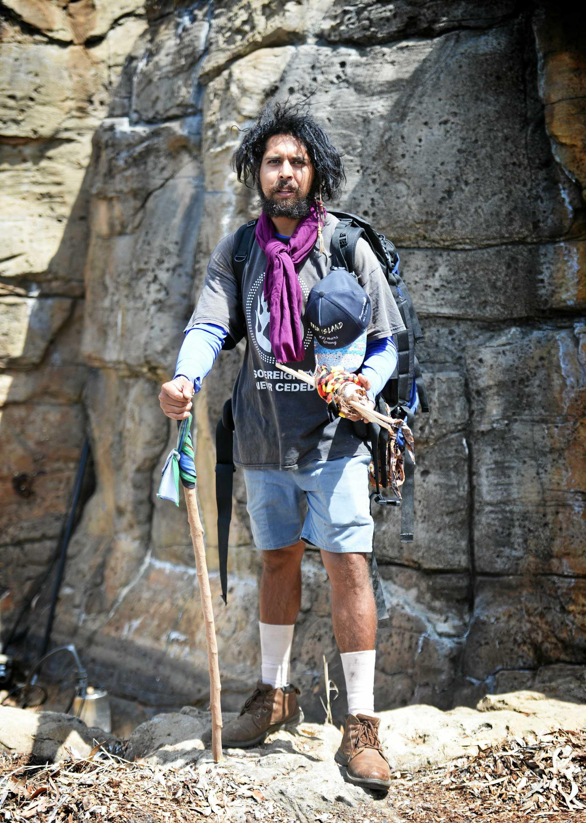 Alwyn Doolan walking from Cape York to Canberra.