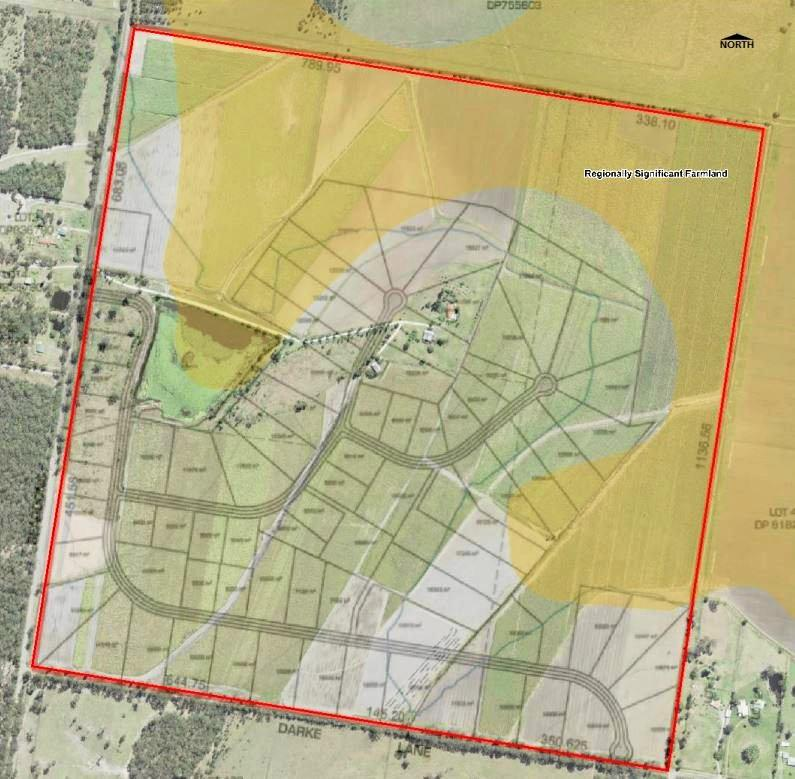 Richmond Valley Council is assessing plans to turn this farmland in to a residential subdivision.