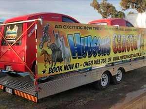 Clowns not laughing after circus trailer stolen