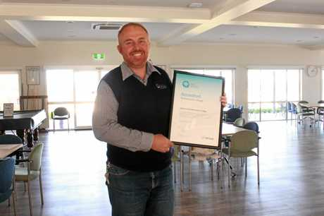 Regency Park retirement living manager Chris Newley said he was pleased his facility had obtained official retirement village accreditation for quality assurance.