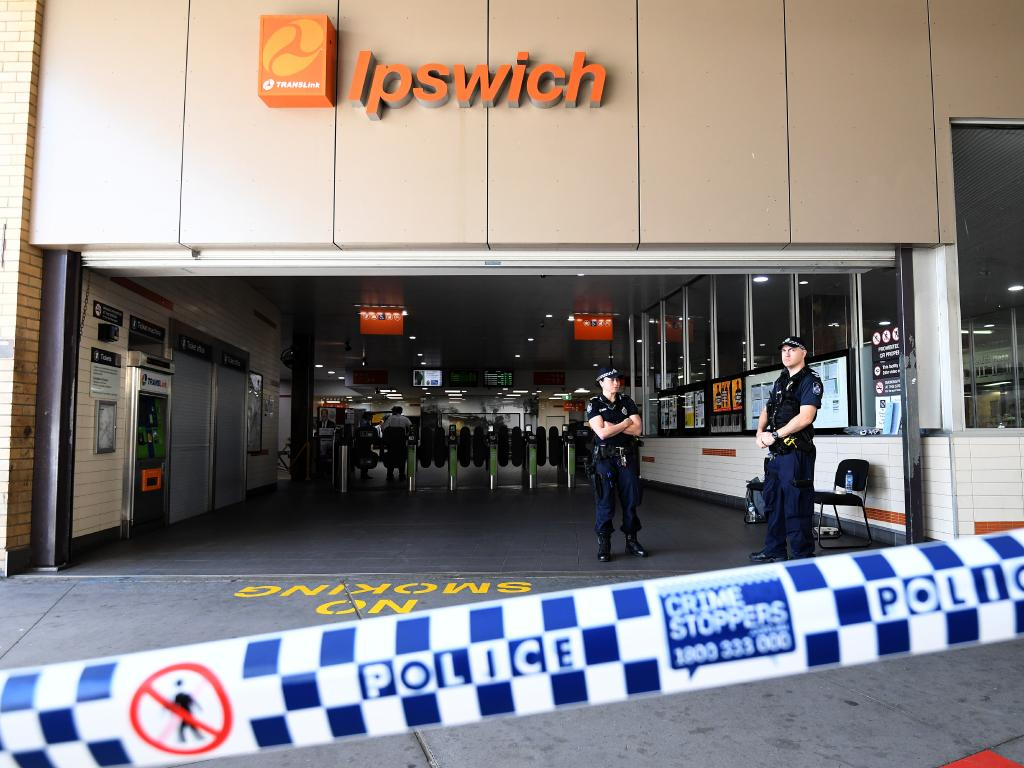 Ipswich train station was cordoned off on September 16 last year after a fatal shooting.