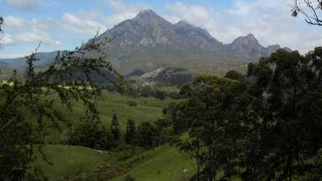 Mt Barney is located 90km southwest of Brisbane.