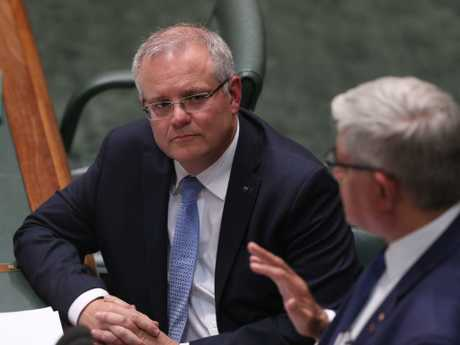 Prime Minister Scott Morrison (left) with Aged Care Minister Ken Wyatt. Picture: Kym Smith