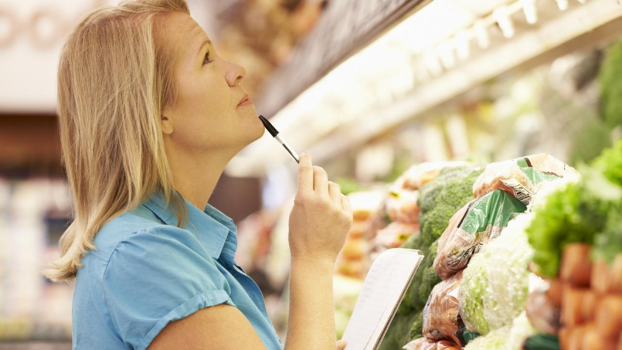 Looking up at the supermarket might deliver you some handy savings.
