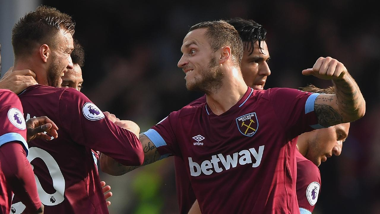 Marko Arnautovic led the team meeting after the loss to Wolves.