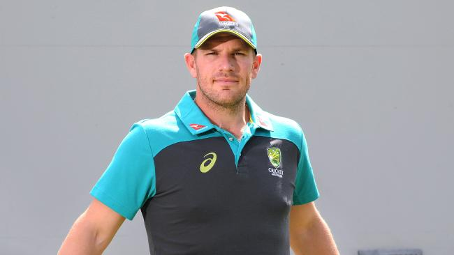 Aaron Finch can smell his first baggy green. Picture: AAP