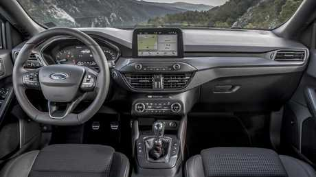 The interior of the Ford Focus ST-Line, European model shown. Picture: Supplied.