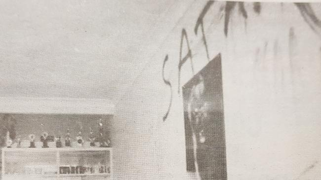 Rodney Dale spelled out Satan with his own blood on the wall of his Burleigh Heads unit.
