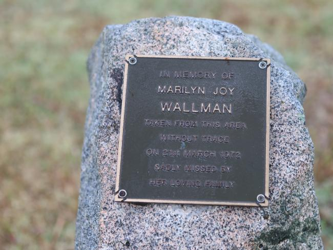 Memorial to Marilyn Wallman who disappeared without a trace in 1972 in Mackay. Picture: Annette Dew