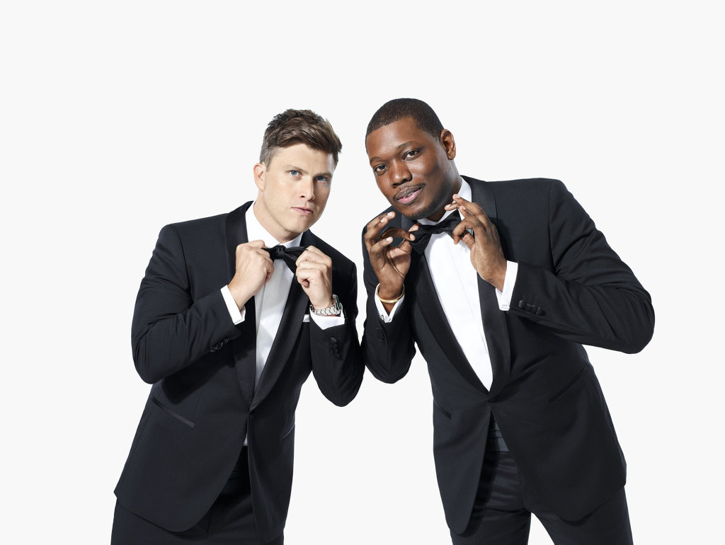 Colin Jost and Michael Che will host the 70th Primetime Emmy Awards. Supplied by Foxtel.