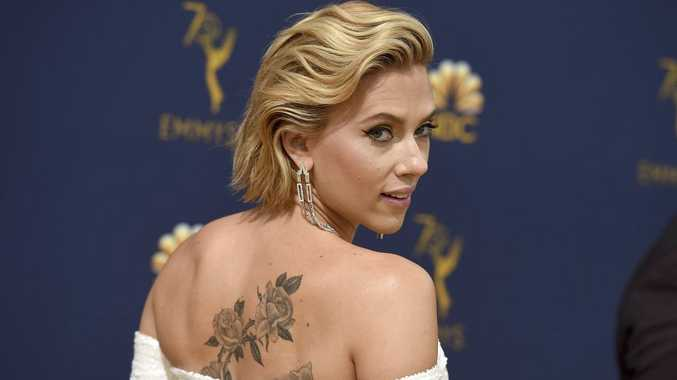 Scarlett Johansson arrives at the 70th Primetime Emmy Awards on Monday, Sept. 17, 2018, at the Microsoft Theater in Los Angeles.