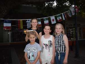 Tom and Emily Simms with Breana and Jorja Cookson.