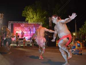 One Long Table Indigenous tribal dance.