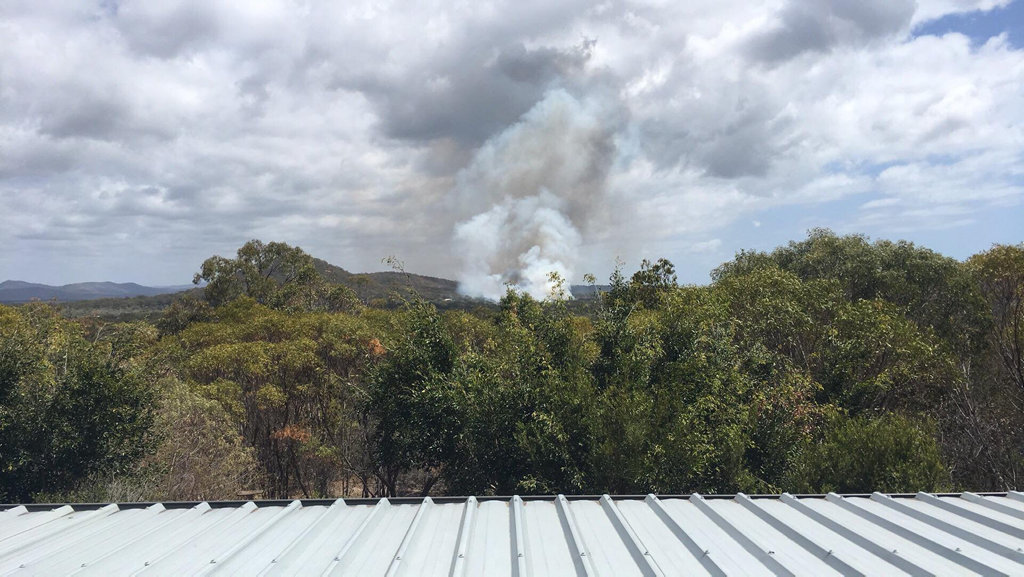 A bushfire is now burning in containment lines at Agnes Water.