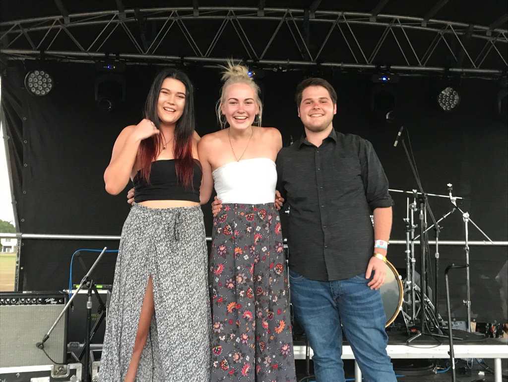 ALT band members (from left)  Taylor Bell, Alyssa Brache and Leyon Milner will open at Sugar City Sounds 2018 at BB Print Stadium Mackay this Saturday.