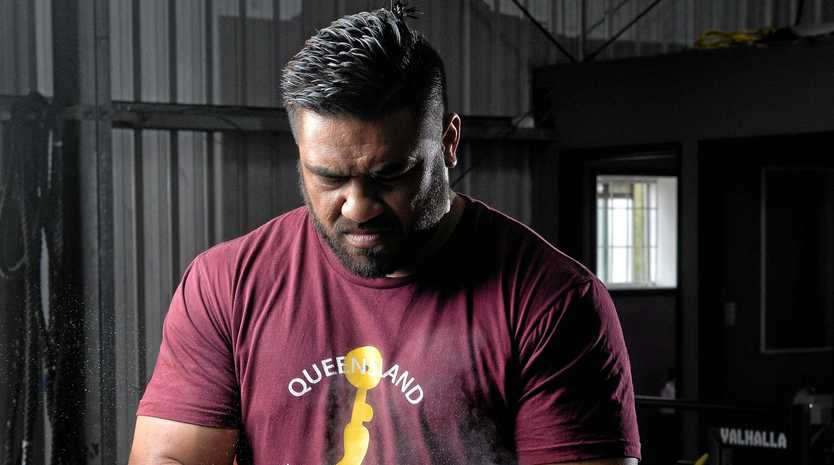 STEELY RESOLVE: Jax Solofa's relentless pursuit of an AWF National title finally paid off, winning the 109kg-plus category at Cougar Weightlifting Club this month.