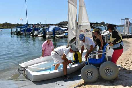Sunshine, salt water and a light spring breeze made for a great day out at Sailability's annual Regatta for the disabled.