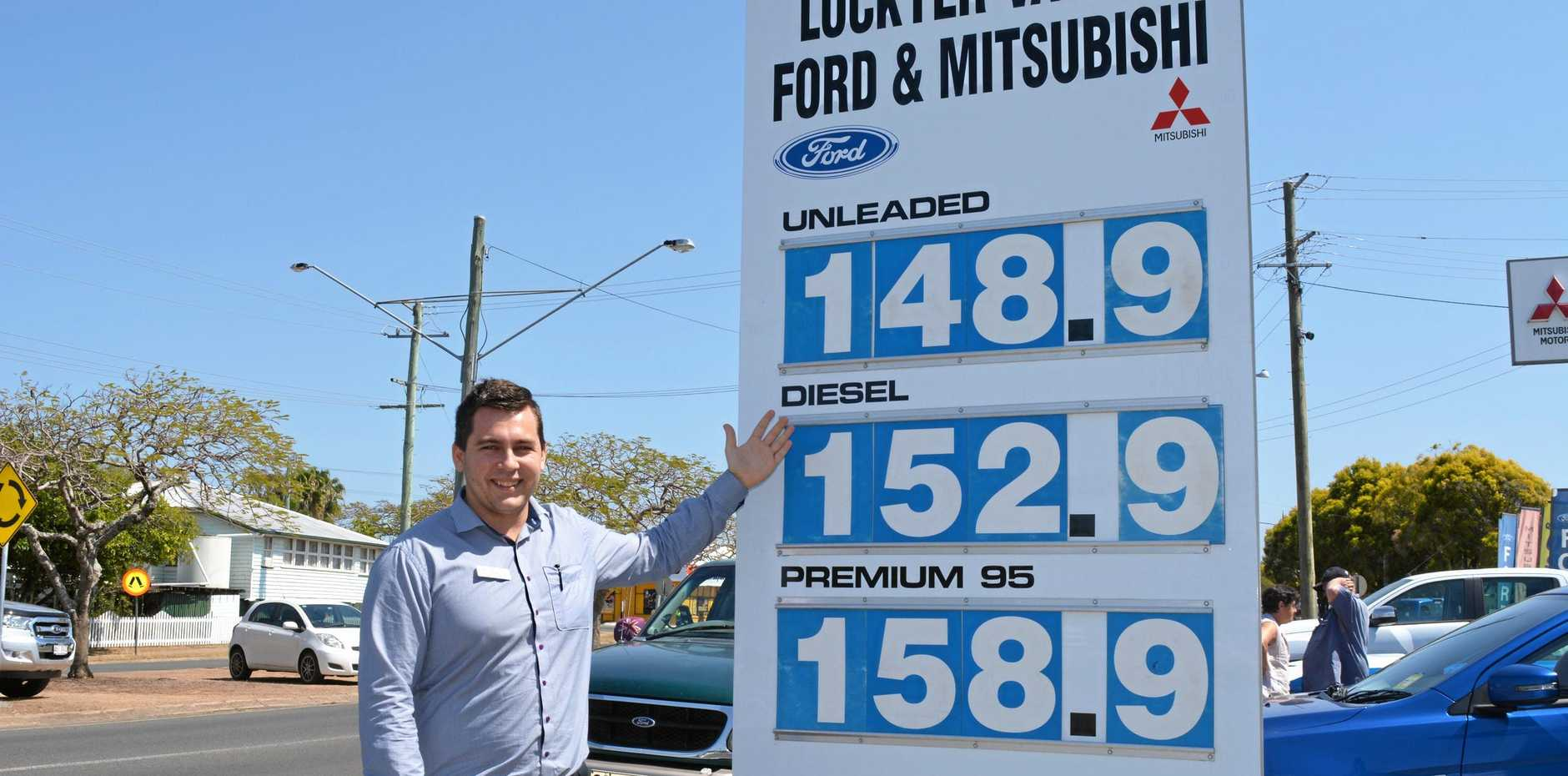BEST BUY: Chris O'Brien makes sure he offers the cheapest fuel in town.