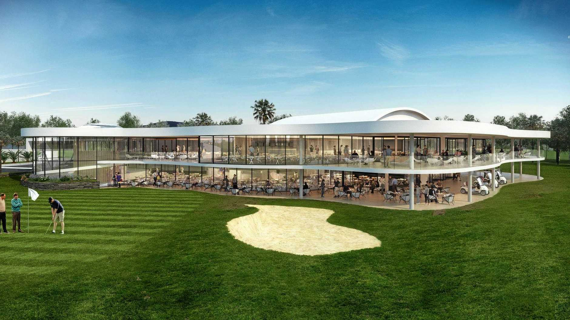 BIG PLANS: An artist's impression of Gympie RSL Club's proposed new golf club venue, which has become a divisive point between the board and its members.