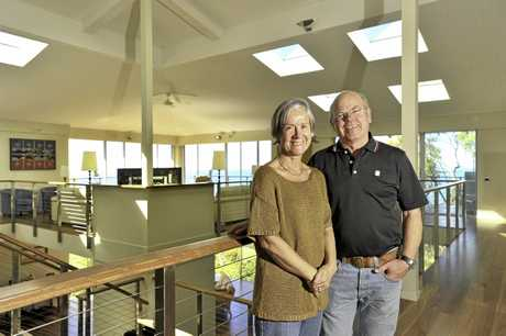 Mark And Janene Hulst's spectacular two story home at Sunrise 1770 is not only environmentally friendly but also architecturally impressive. Photo Mike Richards / The Observer