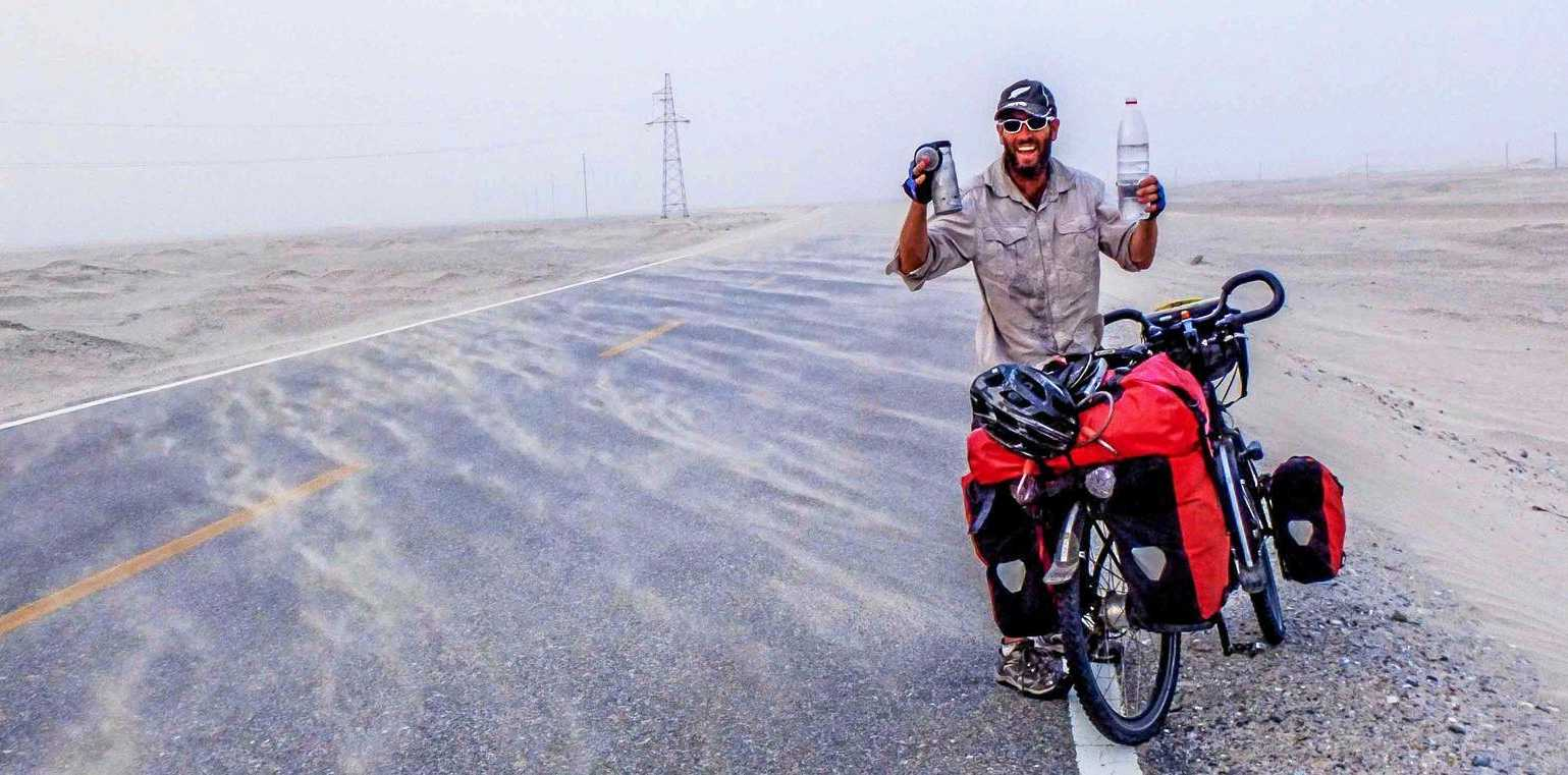 GREAT SCOTT: Jeremy Scott rode his bike through some of the most extreme climates on earth. He's due to visit Mackay in coming days.