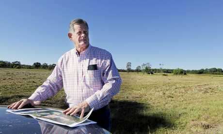 Leda Holdings development manager Reg Van Rij on the proposed hospital site at Kings Forest.