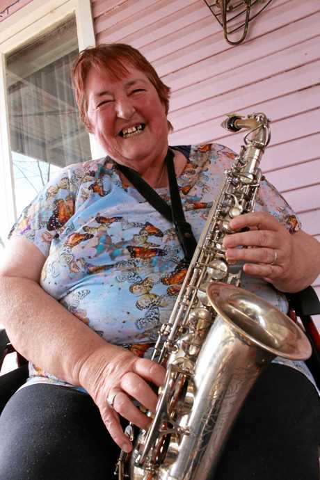 Lynette's other passion is playing saxophone, and calls herself the 'Saxy Lady'.
