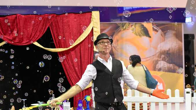 POP IN: Glen Rhodes will perform bubble shows at Rose City Shoppingworld during the school holidays.
