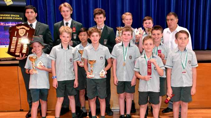 OPPOSITION CHECKED: Nambour Christian College chess players and their rewards from the recent regional titles.