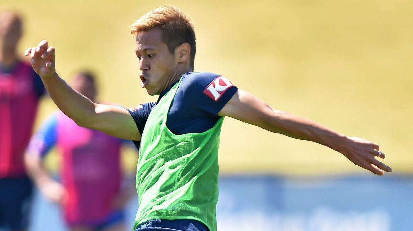 TALENT: Melbourne Victory's Keisuke Honda in action at Sunshine Coast Stadium on Tuesday.